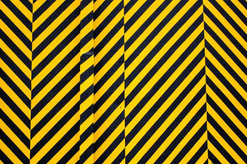 yellow and black striped